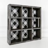 13x13x3 wd bvg tray (BFL CHK) bk/wh