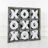 13x13x.75 wd game (XOXO) bk/wh