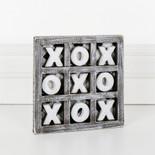 6x6x.5 wd game (XOXO) bk/wh