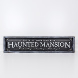 34x7.5x1.5 wood frmd sign (MANSION) bk/wh/gy