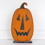 9x16x1.5 wood pumpkin on base (JOL) or/bk