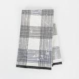 24x17 tea towel (PLAID) wh/bk