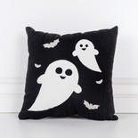 12x12x4 canvas pillow (GHOST) bk/wh/gy