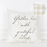 16x16x4 canvas pillow (GATHER) wh/bn/tn