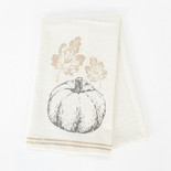 24x17 tea towel (PUMPKIN) wh/gy/tn
