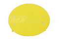Number Plate Universal Oval with Mounting Bracket YELLOW