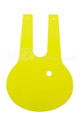 Number Plate Front Cable Saver Oval Yellow