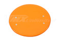 Number Plate Universal Oval Orange with Mount Brackets