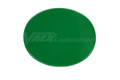 Number Plate Universal Oval Green