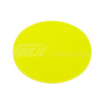 Number Plate Universal Oval Yellow