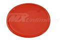 Number Plate Universal Oval Red