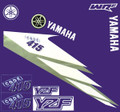 YAMAHA YZ, WRF STICKER KIT, BLUE FITMENT TEMPLATES TO SUIT: YZ, WRF, SIZE: 500mm x 500mm