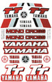 YAMAHA TT STICKER KIT SIZE: 565mm x 355mm RED