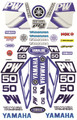 YAMAHA PW50 STICKER KIT SIZE: 565mm x 355mm BLUE