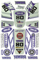 YAMAHA PW80 STICKER KIT SIZE: 565mm x 355mm BLUE