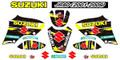 SUZUKI JR80 SUZUKI STICKER KIT 2001 - 2009 SIZE: 555mm x 400mm