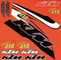 KTM UNIVERSAL STICKER KIT TEMPLATES TO SUIT: KTM EXC 01-06 & KTM SX 01-06 SIZE: 500mm x 500mm (CAN BE CUT TO SUIT OTHERS)