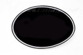 "Number Plate Decal Universal Oval 10""1/4 Black"