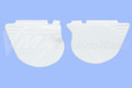 Side Panel Set 74-75 MX125/175, 74 YZ125 White