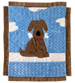 Puppy Love Appliqué Blanket1