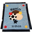 Multi Sports Appliqué Blanket