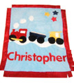 Train Appliqu Blanket