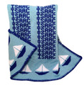 Personalized Sailboat Knit Blanket