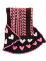 Personalized Heart Knit Blanket