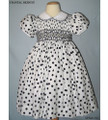 White Navy Polka Dot