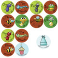 Baby Bugs Monthly Onesie Stickers