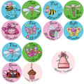 Baby Buggies Monthly Onesie Stickers