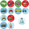 Go Baby Monthly Onesie Stickers