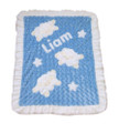 Baa Baa Baby Sheep Appliqué Blanket Blue