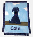 Puppy Love Appliqué Blanket Navy
