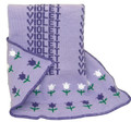 Personalized Tulip Knit Blanket (Lavender)