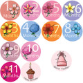 Baby Petals Monthly Onesie Stickers