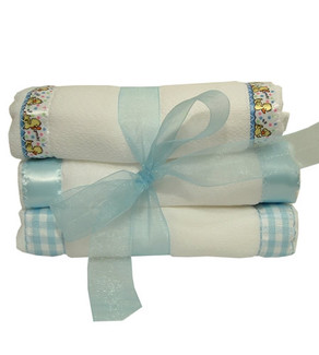 Burp cloths:blue