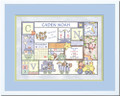 Patchwork Boy Birth Certificate Art Pastel