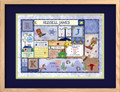 Patchwork Boy Birth Certificate Art Cowboy