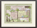 Patchwork Boy Birth Certificate Art Dinosaur