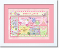 Christening Girl Patchwork Art