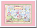 Watercolor Girl Birth Certificate Art
