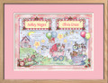 Watercolor Twin Girls Birth Certificate Art