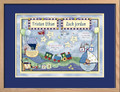 Watercolor Twin Boys Birth Certificate Art