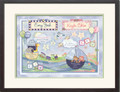 Watercolor Twin Boy and Girl Birth Certificate Art