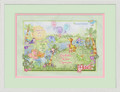 Watercolor Jungle Girl Birth Certificate Art