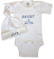 Hand Embroidered 2pc Onesie set