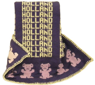 Personalized Bear Knit Blanket