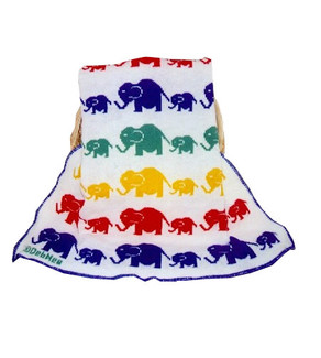Custom Knit Blanket Elephant Motif