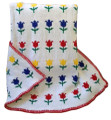 Custom Knit Blanket with Tulips Motif